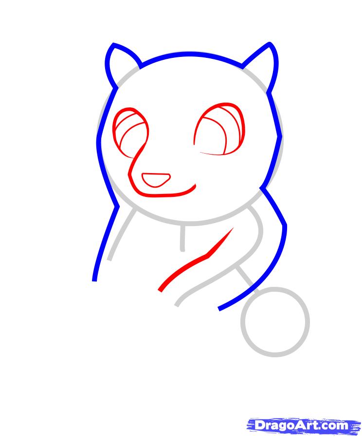 Рисуем медвежонок с ульем ребенку - шаг 3