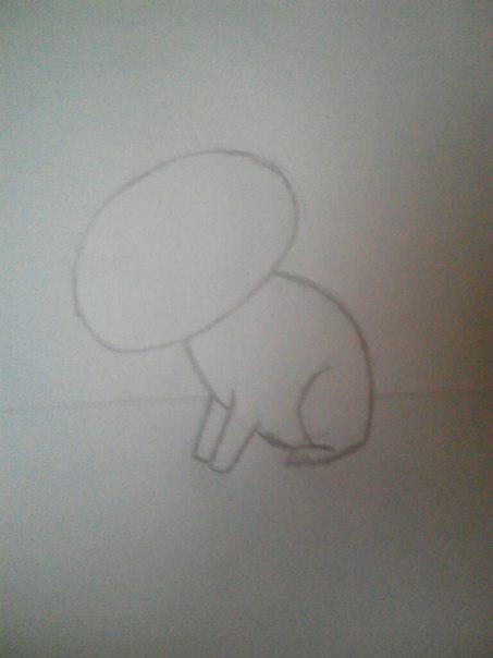 Рисуем милого кота  для детей от 5 лет - шаг 3