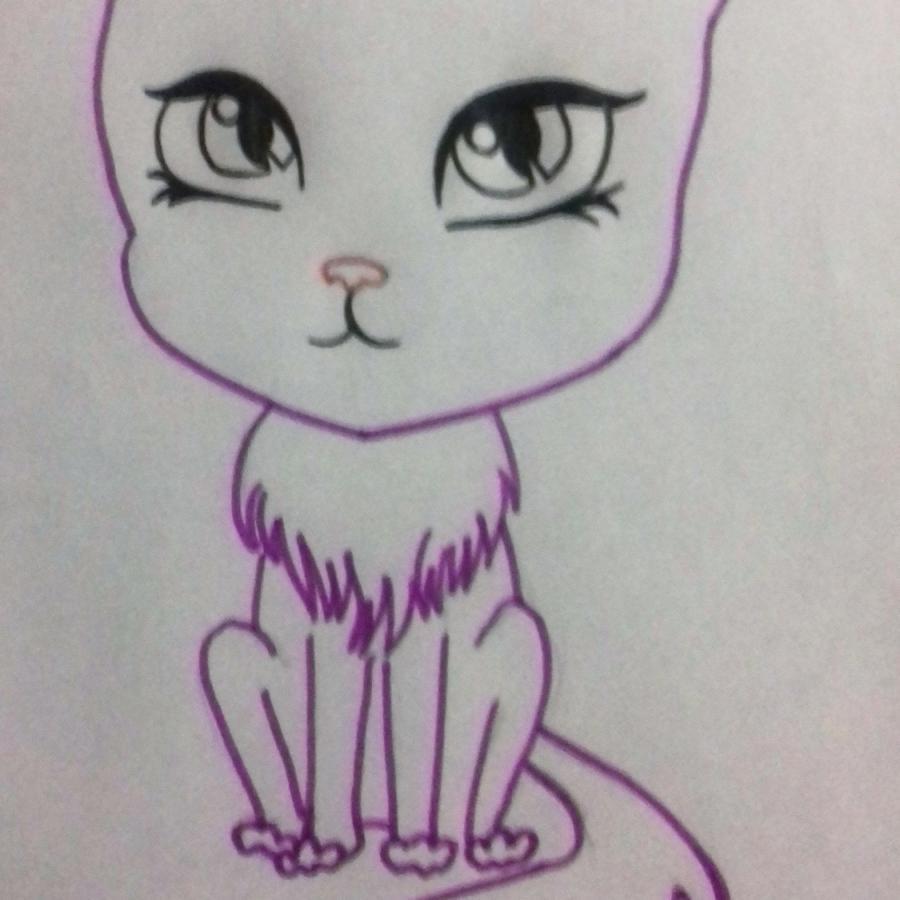 kak_narisovat_multyashnogo_kotika_detyam_pojetapno-5 Как нарисовать котенка с милыми глазками поэтапно карандашом для детей и начинающих? Как нарисовать котенка аниме, вислоухого, сиамского, спящего?