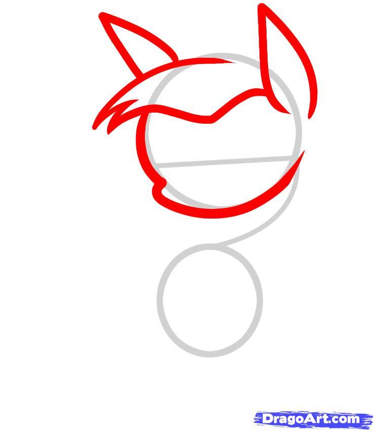 Рисуем лошадь карандашами  для детей - шаг 2