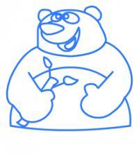 панду ребенку карандашом