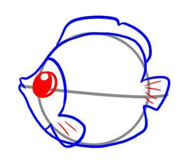 Рисуем рыбку ребенку - шаг 4