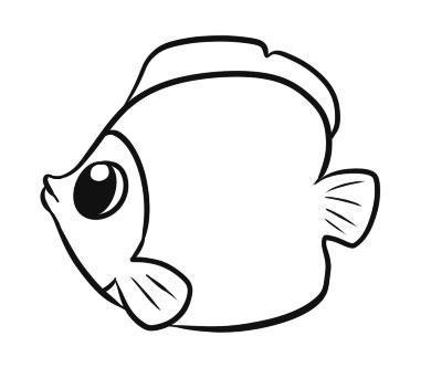 Рисуем рыбку ребенку - шаг 5