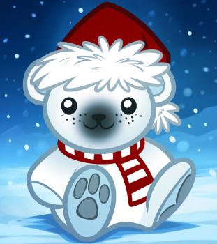 Рисуем рождественского медвежонка ребенку