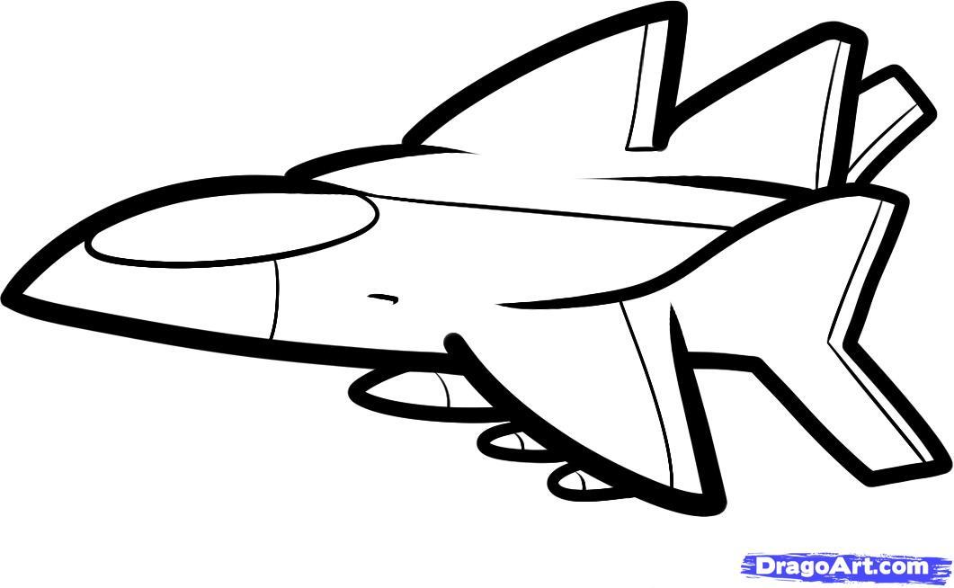 Рисуем самолет ребенку - шаг 7