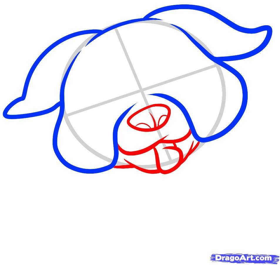 Рисуем щенка бульдога ребенку - шаг 3