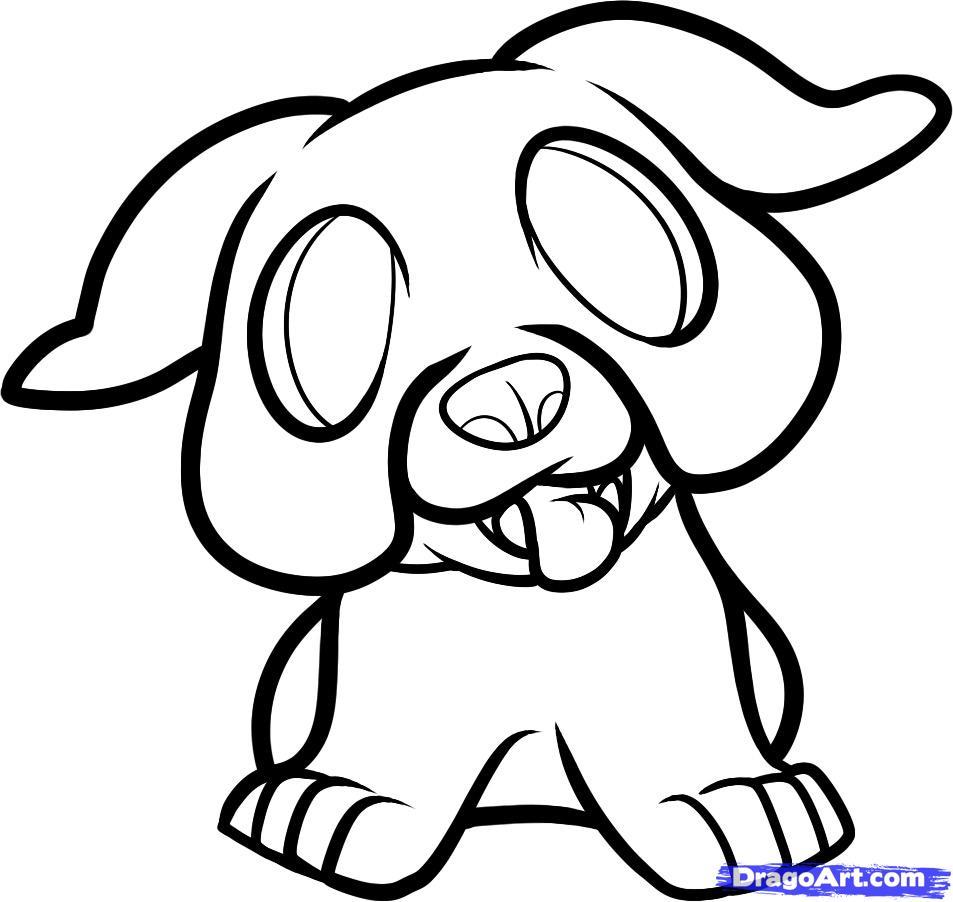 Рисуем щенка бульдога ребенку - шаг 7