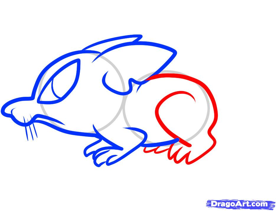 Рисуем симпатичную крысу ребенку - шаг 6