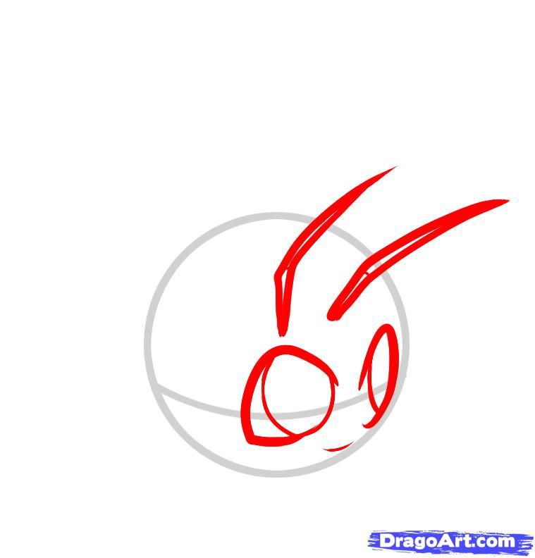 Рисуем симпатичную Муху ребенку