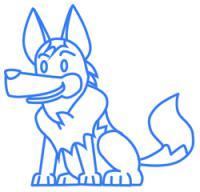 Фото собаку ребенку карандашом