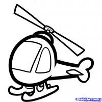 Фото вертолет ребенку карандашом