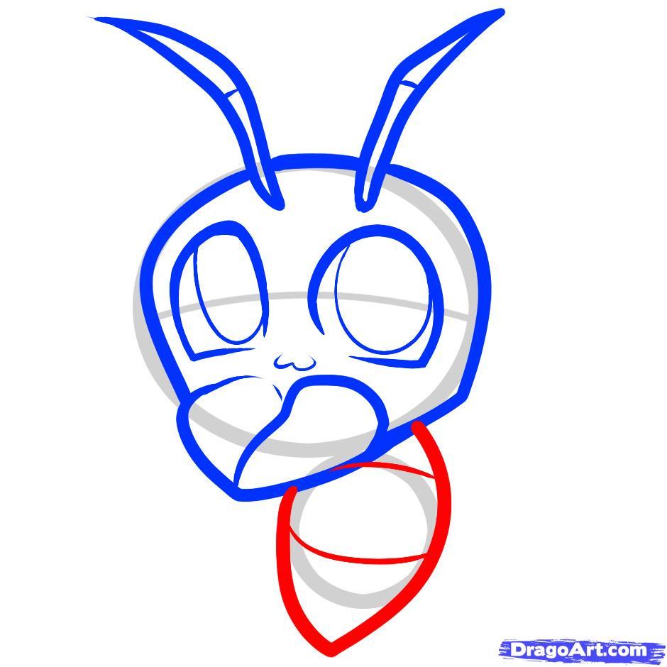 Рисуем веселого муравья ребенку
