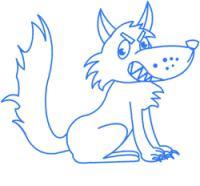 волка для детей карандашом