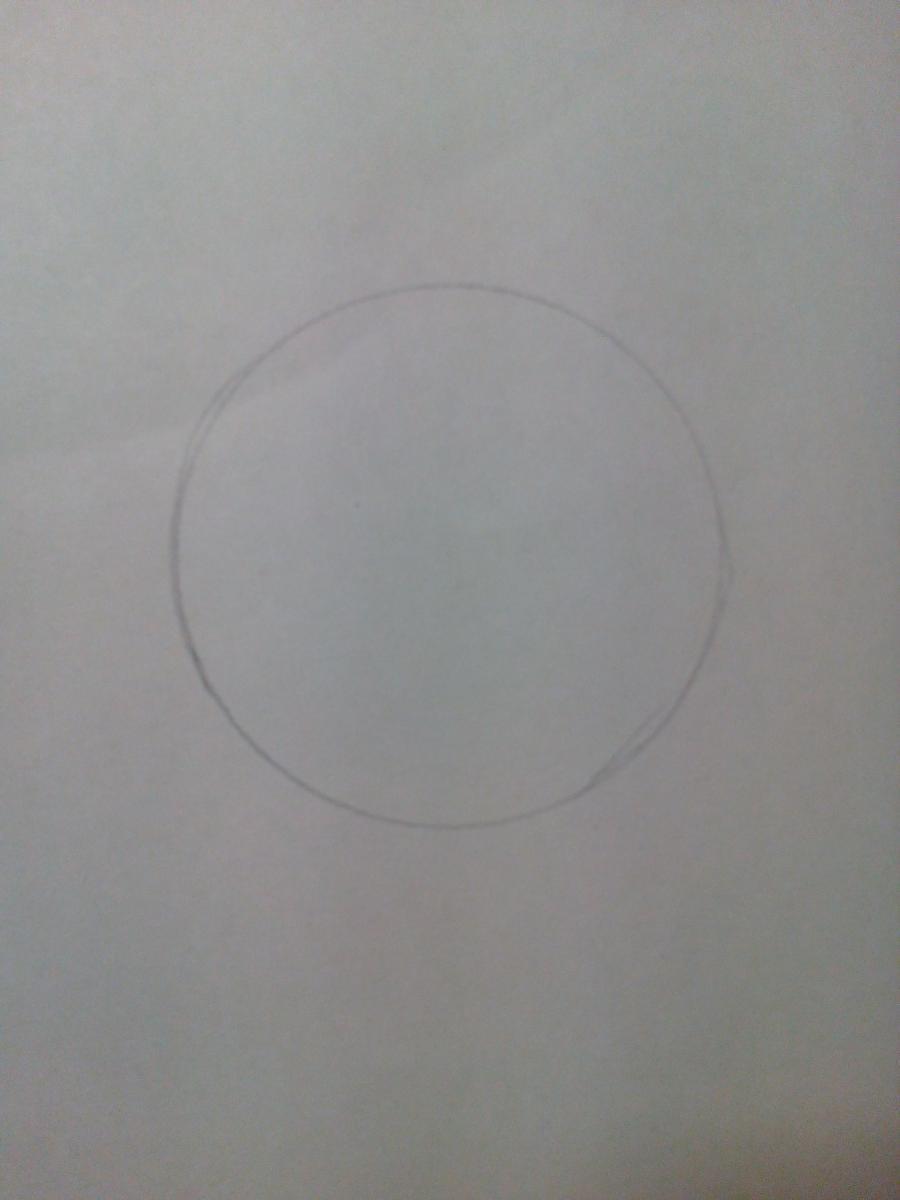 Рисуем зайчонка ребенку карандашами - шаг 1