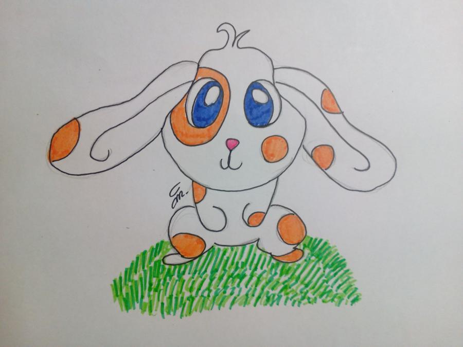 Рисуем зайчонка ребенку карандашами - шаг 8