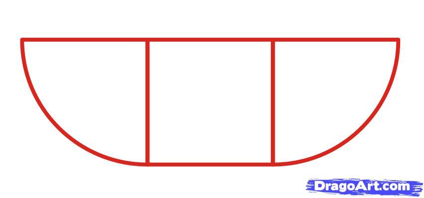 Как просто нарисовать танк ребенку - шаг 1