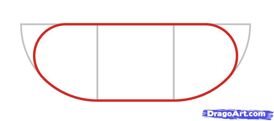 Как просто нарисовать танк ребенку - шаг 2