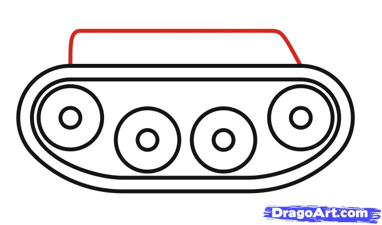 Как просто нарисовать танк ребенку - шаг 6