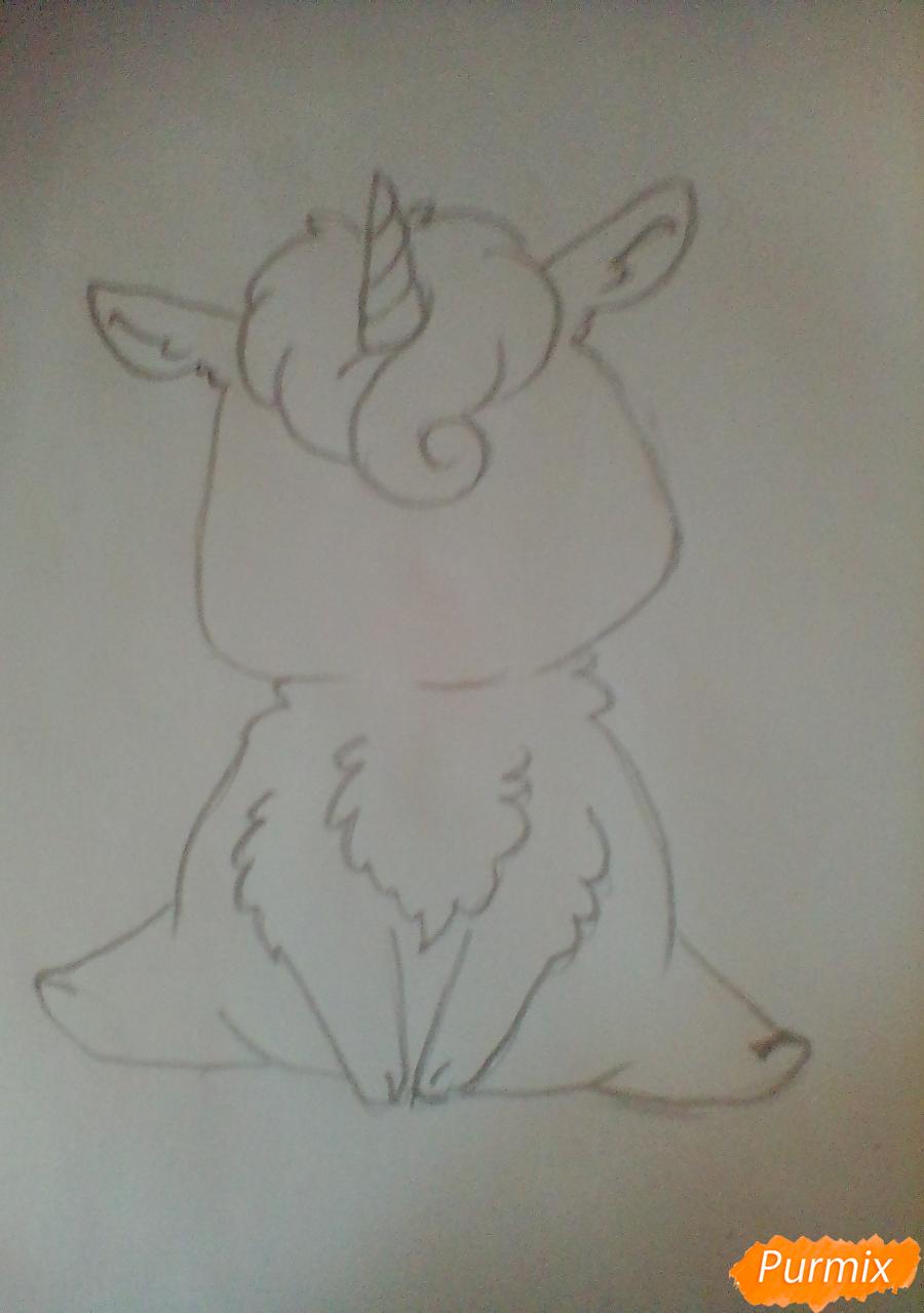 Рисуем милого Единорога детям - шаг 2