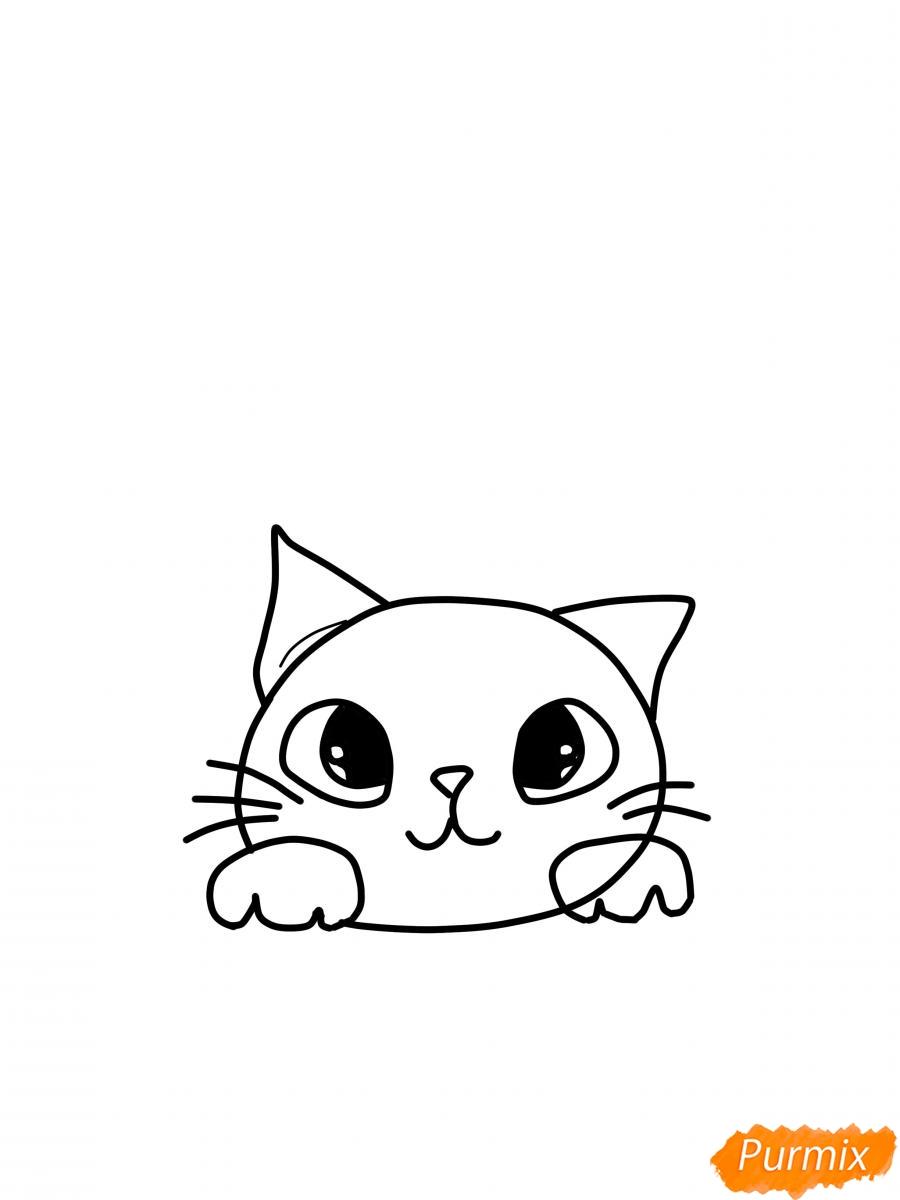 risuem-mordochku-koshki-dlya-detej-5 Как нарисовать котенка с милыми глазками поэтапно карандашом для детей и начинающих? Как нарисовать котенка аниме, вислоухого, сиамского, спящего?