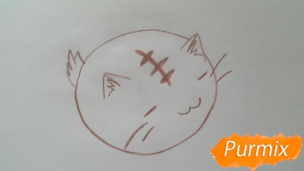 risuem-puhlenkogo-kotika-rebenku-pojetapno-6 Как нарисовать котенка с милыми глазками поэтапно карандашом для детей и начинающих? Как нарисовать котенка аниме, вислоухого, сиамского, спящего?