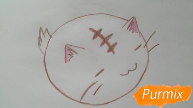 risuem-puhlenkogo-kotika-rebenku-pojetapno-7 Как нарисовать котенка с милыми глазками поэтапно карандашом для детей и начинающих? Как нарисовать котенка аниме, вислоухого, сиамского, спящего?
