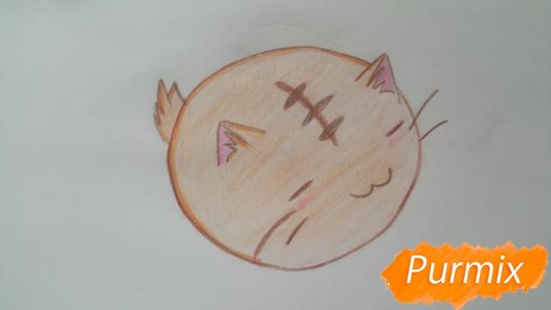 risuem-puhlenkogo-kotika-rebenku-pojetapno-8 Как нарисовать котенка с милыми глазками поэтапно карандашом для детей и начинающих? Как нарисовать котенка аниме, вислоухого, сиамского, спящего?