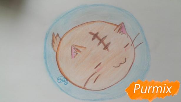 risuem-puhlenkogo-kotika-rebenku-pojetapno-9 Как нарисовать котенка с милыми глазками поэтапно карандашом для детей и начинающих? Как нарисовать котенка аниме, вислоухого, сиамского, спящего?