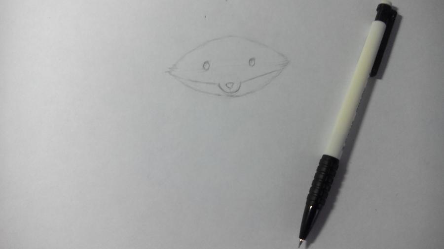 Рисуем и раскрашиваем лисичку в шарфике  детям (подробный урок) - шаг 5
