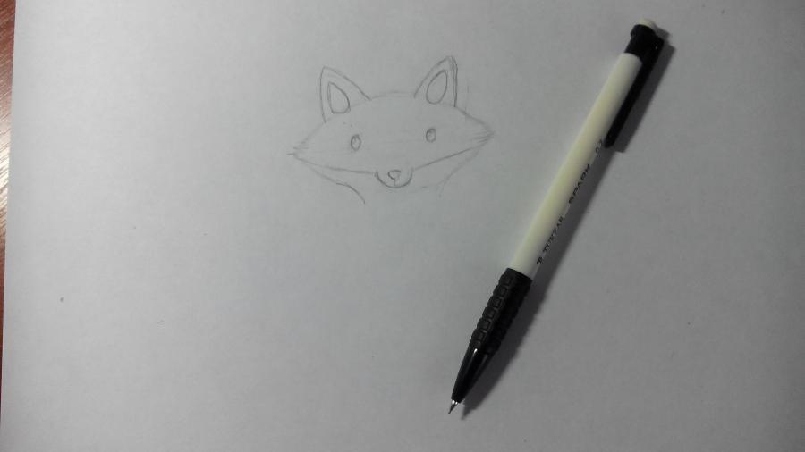 Рисуем и раскрашиваем лисичку в шарфике  детям (подробный урок) - шаг 6