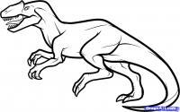 Аллозавра карандашом