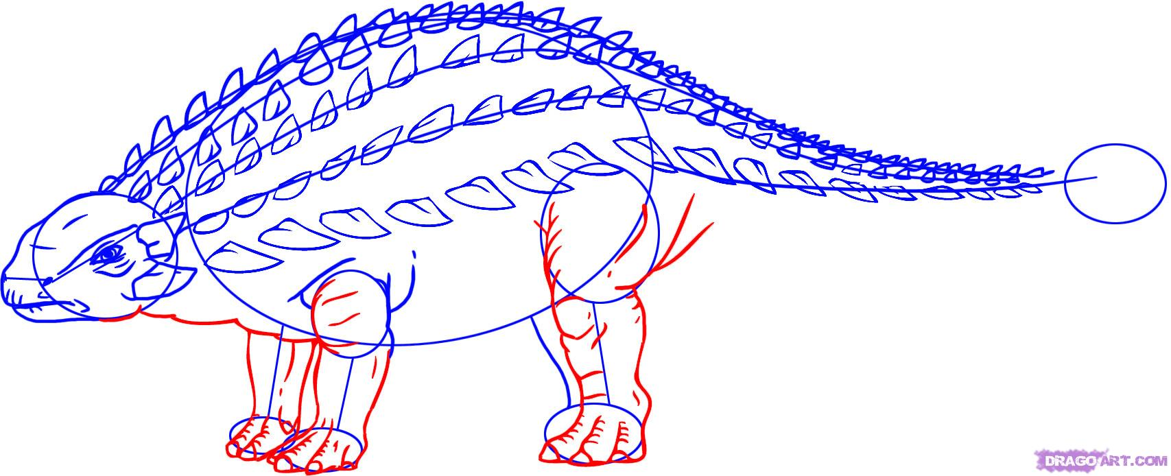 Рисуем Анкилозавра(Ankylosaurus)