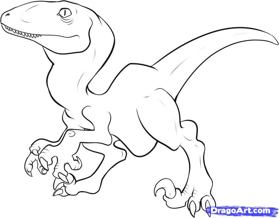 Рисуем динозавра Раптора - шаг 6