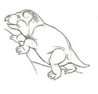 динозавра Каннемейерия карандашом