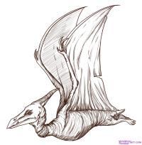 динозавра Птеродактиля