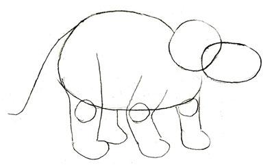 Рисуем Трицератопса - шаг 2