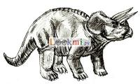 Трицератопса карандашом