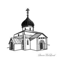 Георгиевский собор карандашом