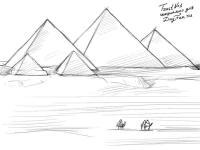 Фото Пирамиды Хеопса карандашом