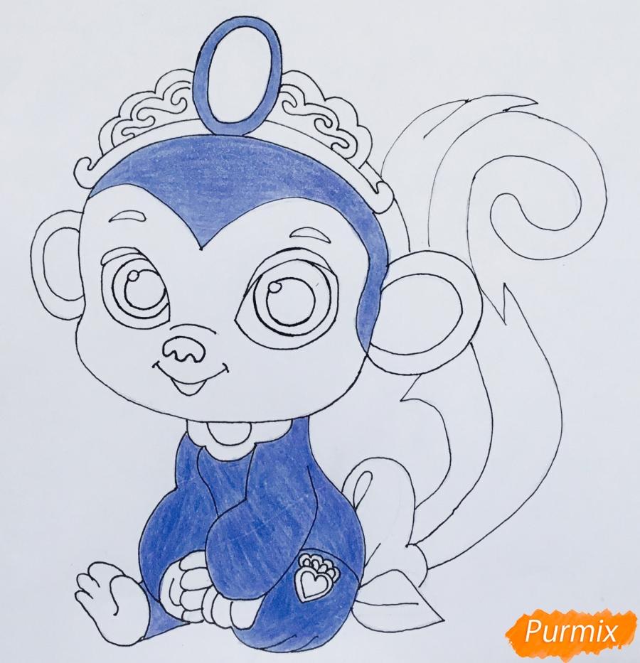 Рисуем обезьянку Найл питомца Жасмин из мультфильма Palace Pets - шаг 8