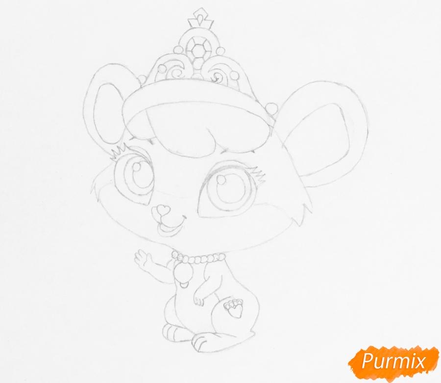 Рисуем питомца Золушки мышку Бри из мультфильма Palace Pets - шаг 4