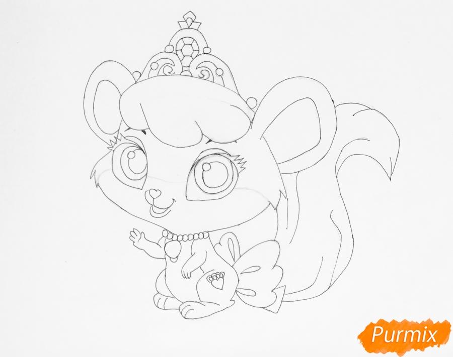Рисуем питомца Золушки мышку Бри из мультфильма Palace Pets - шаг 6