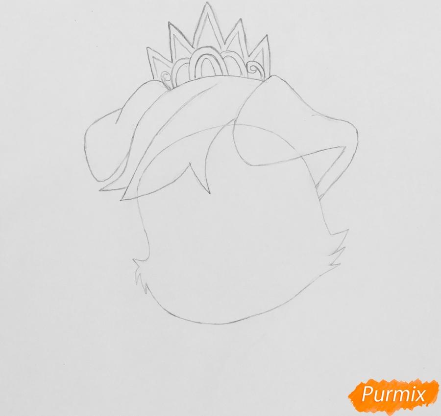 Рисуем питомца Ариэль собачку Дружок из мультфильма Palace Pets - шаг 2