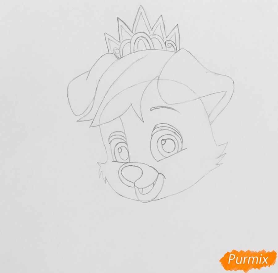 Рисуем питомца Ариэль собачку Дружок из мультфильма Palace Pets - шаг 3