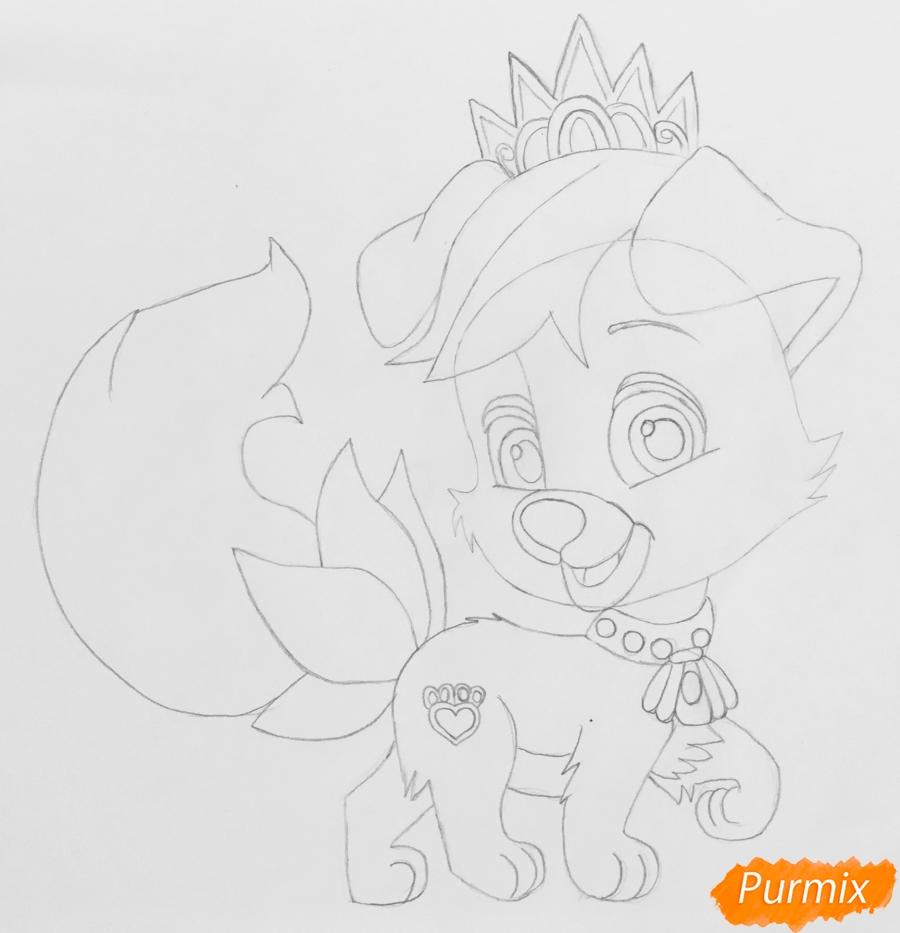 Рисуем питомца Ариэль собачку Дружок из мультфильма Palace Pets - шаг 5