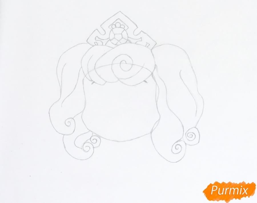 Рисуем питомца Авроры щеночка Макарон из мультфильма Palace Pets - шаг 3