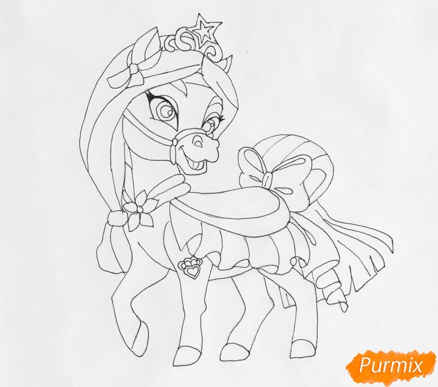 Рисуем питомца Мулан лошадку Личи из мультфильма Palace Pets - шаг 7