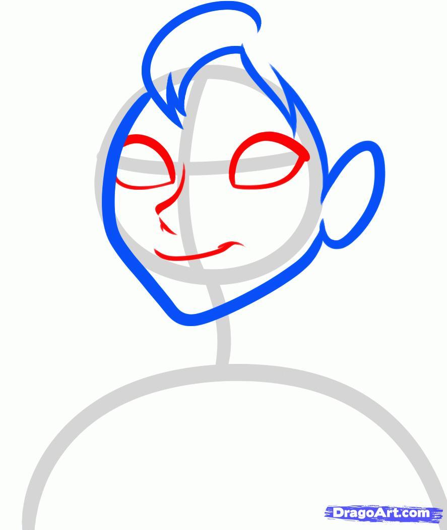 Рисуем Анну из Холодного сердца - шаг 3