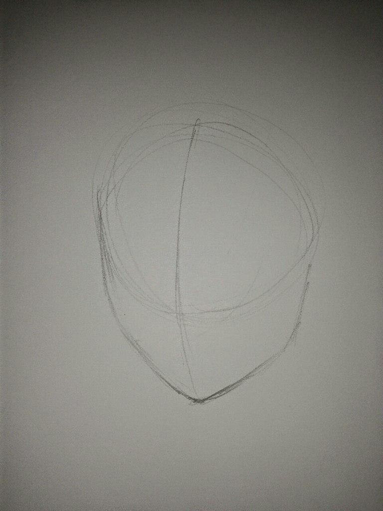 Рисуем Анну в стиле аниме карандашами - шаг 1