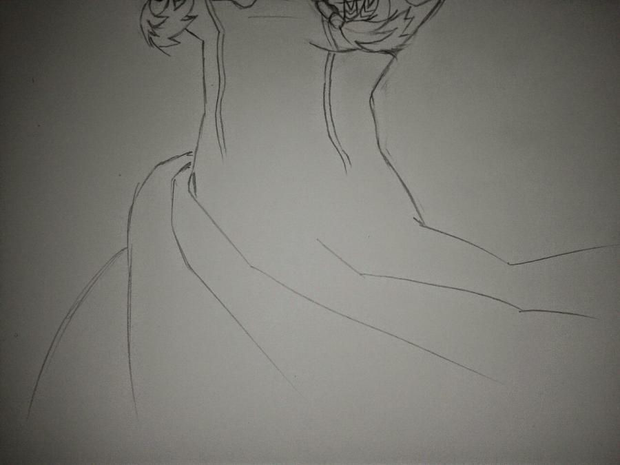 Рисуем Анну в стиле аниме карандашами - шаг 11
